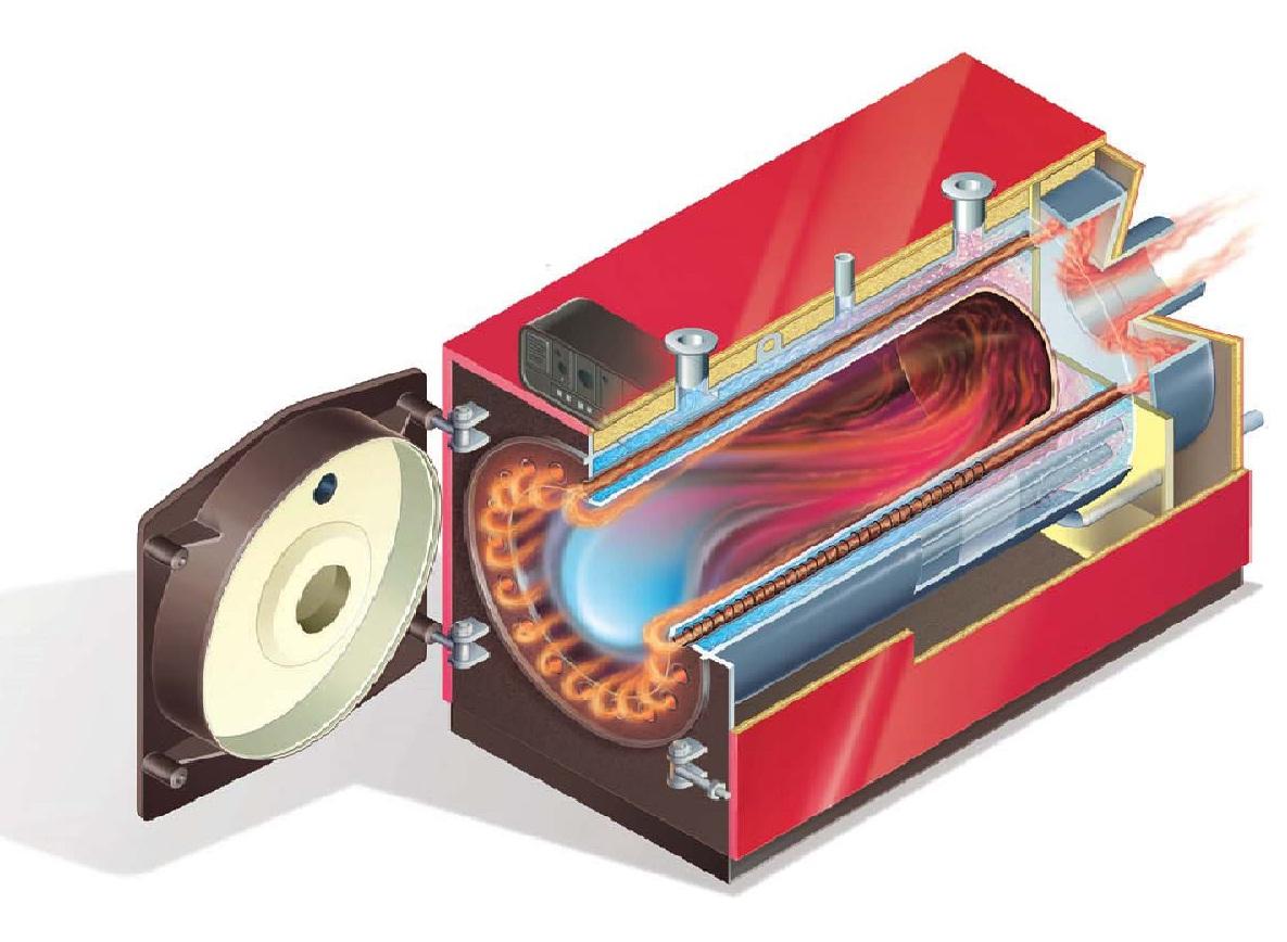 Датчик разряжения в топке котла на твердом топливе схема